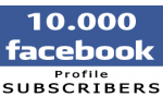 10.000 Facebook Profile Followers (Subscribers)