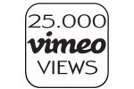25.000 Vimeo Views