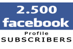 2500 Facebook Profile Followers (Subscribers)