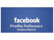 Facebook Profile Followers (Subscribers)